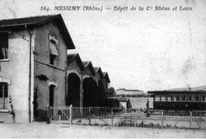Dépôt de la compagnie CRL à Messimy sur le même site que la igne Fourvière Ouest Lyonnais (branche vers Mornant)