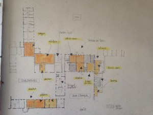 Plan des lieux pour le tournage