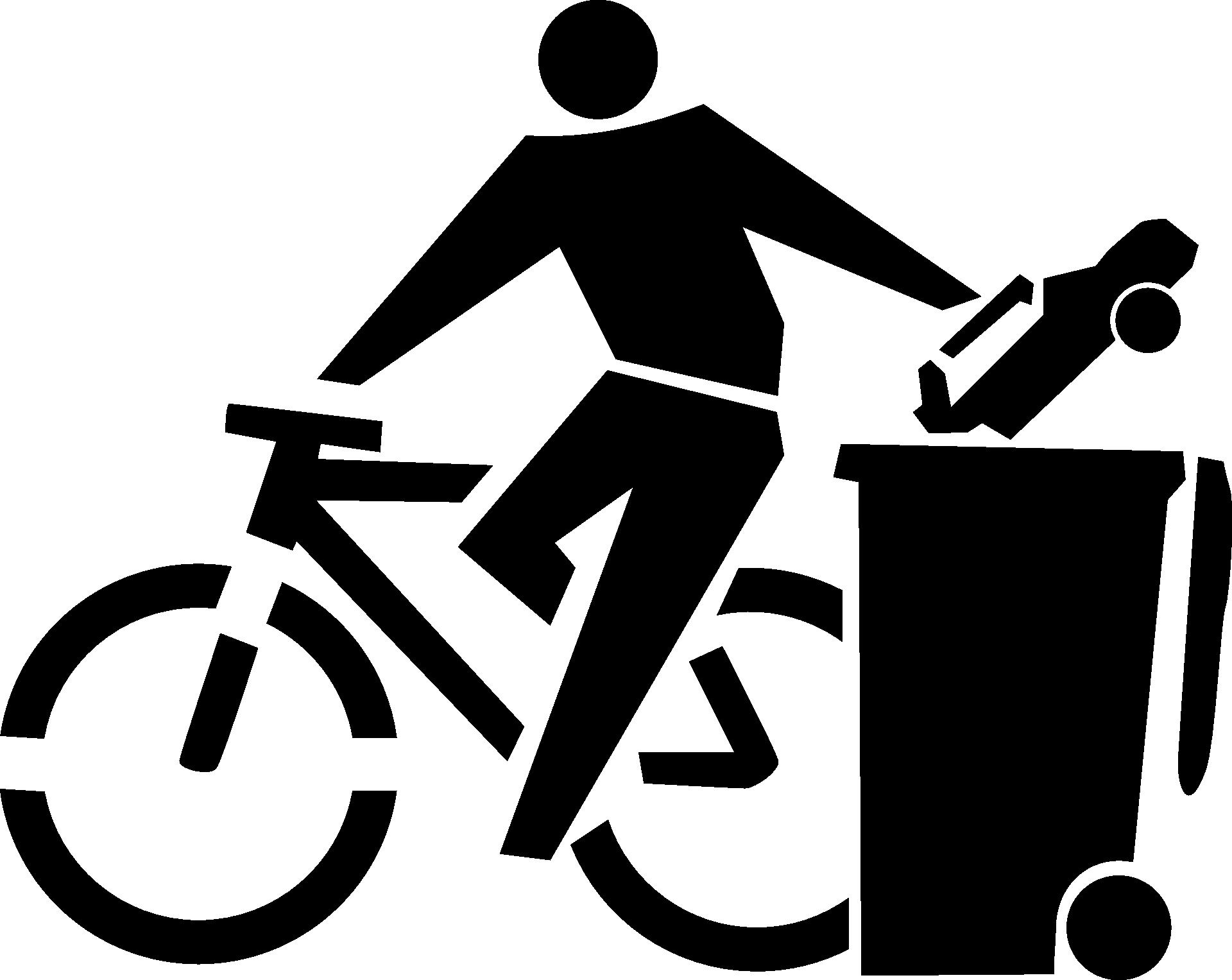 Un cycliste jette sa voiture à la poubelle !