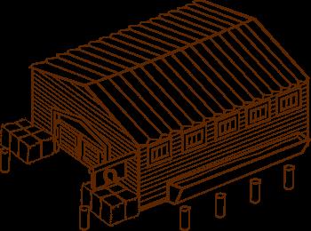 Une cabane en bois (openclipart)
