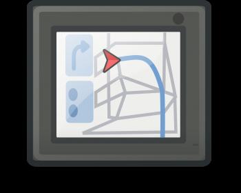 Un guidage par GPS tel que proposé pour les voitures mais aussi dorénavant sur vélo avec également le guidage vocal ! (photo de OpenClipart-Vectors, domaine public)